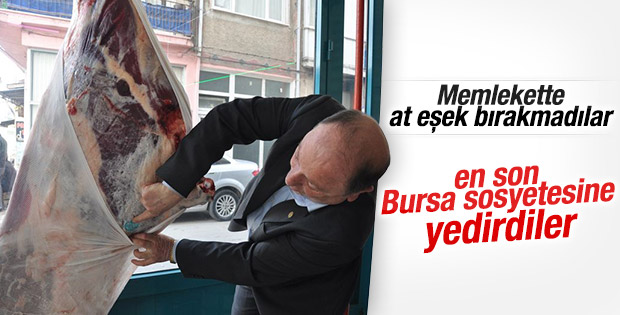 Bursa'da at eti skandalı
